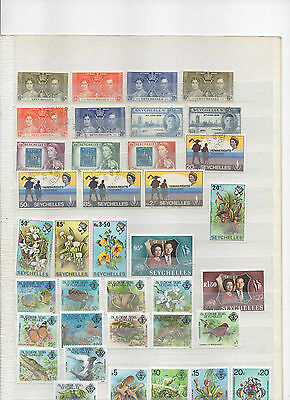 Seychelles 1937 - 1980 Mint And Used Hinged 8 Sets