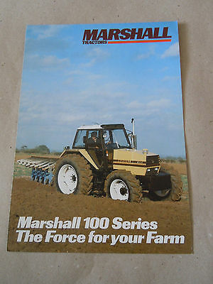 """@Vintage Marshall Tractors 100 Series """"The Force for your Farm"""" Brochure@"""