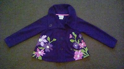Girls purple jacket, age 5 years, by FLAPDOODLES, excellent used condition