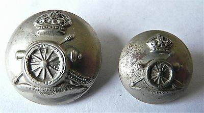 K/C Royal Artillery Volunteers, 23mm & 18mm O/R's W/M military buttons x2
