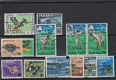 Jamaica.13 -- 1966/69 Used Stamps On Stockcard