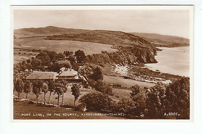 Port Ling On The Solway Coast Kirkcudbright 1939 Real Photograph Valentines