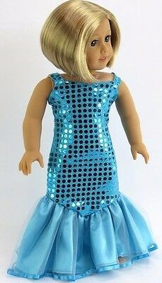 "Elegant Mermaid Dress Evening Gown for American Girl 18"" Doll Clothes US SELLER!"