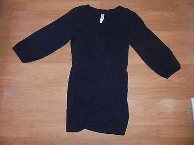 La Leche League black 3/4 sleeve nursing shirt size S