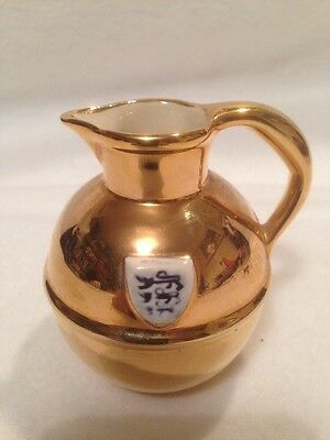 Vintage Jersey Pottery Gold Lustre Jug. For Decoration Or Table Use.