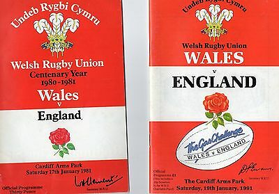 2 Wales v England Rugby Programmes