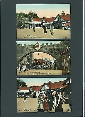 6x Crystal Palace Festival of Empire Exhibition London 1911 Valentines Postcards