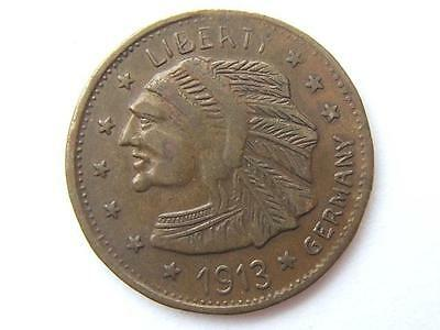 1913 $5 FIVE DOLLAR COIN USA eagle / Indian head GERMANY ISSUE very good.