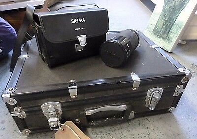 JOB LOT Vintage Pentax MX Camera 4 lenses SIGMA 600mm mirror Kiron 28-210 Lens