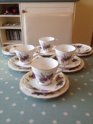 Vintage Duchess Collection. Green, Yellow, Purple Leaves. Wedding China?