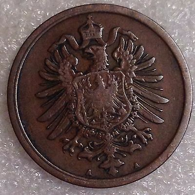 Germany 2 Pfennig 1874 A Copper  Nice Details!  #2355