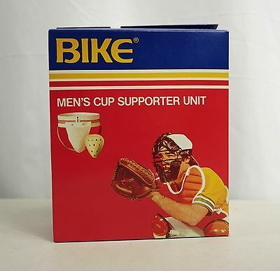 Vintage BIKE JOCKSTRAP/CUP Mens Supporter Unit SMALL No 55 baseball catcher NOS