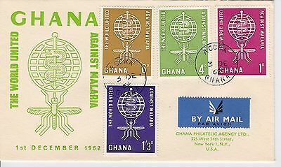 First day cover, Ghana, Scott #128-131, Malaria, 1962
