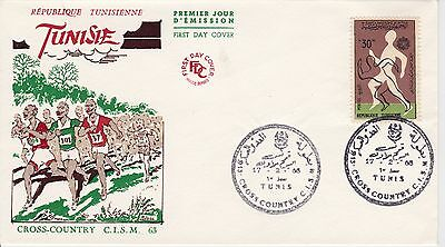 First day cover, Tunisia, Scott #437, Army Sports Day, 1963
