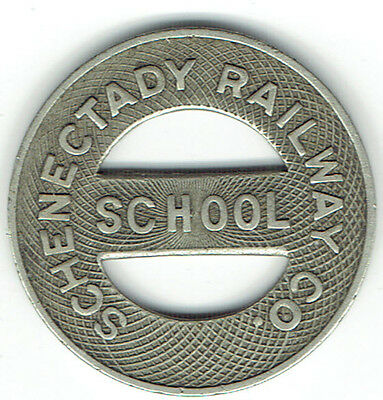 Schenectady Railway Co.-school token-( 2 tokens lot )- Good For One Fare