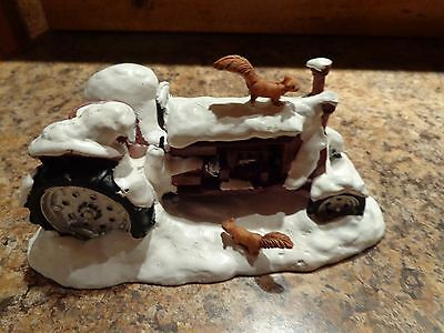 Winter Farm Tractor Snow Lemax Village Collection Table Accent Vintage 2009