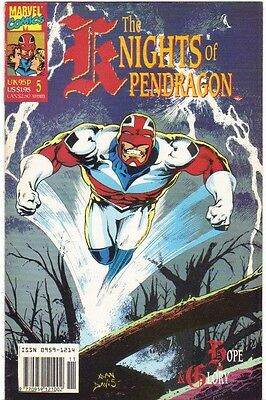 The Knights of Pendragon #5 FN (1990) Marvel Comics