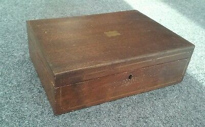Antique Turn of C Wood Sewing Box Pin Cushion Tray Stencil Decorated