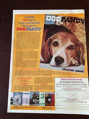 "VTG 1970 Magazine Ad DOG FANCY Charter Issue Collectors Edition 9 3/4""x13"""