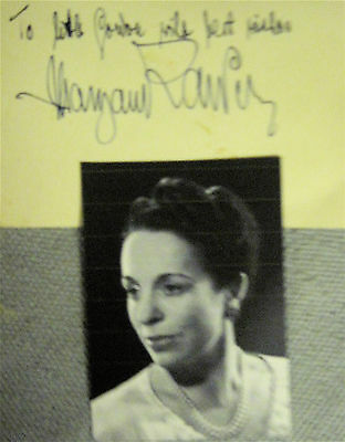 Margaret RAWLINGS Fine English Theatre Actress 1930s-70s. Hand SIGNED Card/Photo