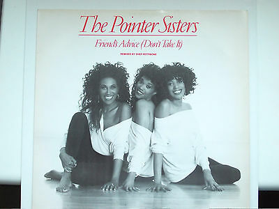 """The Pointer Sisters Friends Advice (Don't Take It) 12"""" Single 1990 N/mint"""