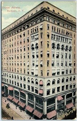 "Rochester, New York Postcard ""Granite Building"" Street View c1910s Unused"