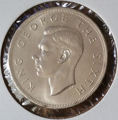 1949 NEW ZEALAND . CROWN . Silver Coin . KM # 22