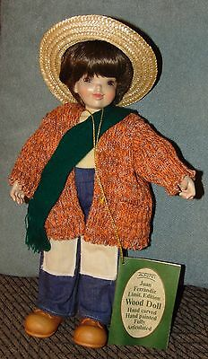 VINTAGE Wooden Doll ANRI Tagged GABRIEL With COA