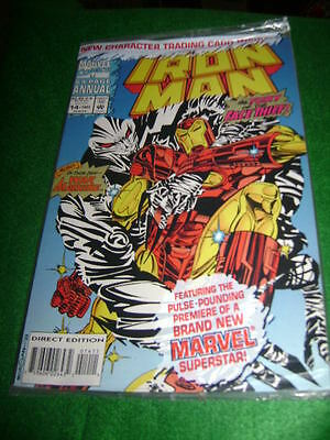 1993 Iron-Man Annual 64 Pages #13 Promotional Card In Pre-Sealed Poly Bag