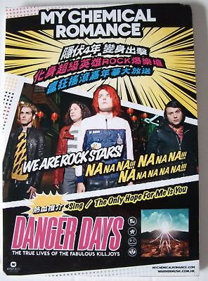 """My Chemical Romance """"danger Days"""" Hong Kong Counter Display / Stand-Up"""