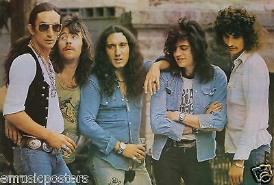 """URIAH HEEP """"BAND DRINKING BEER"""" POSTER FROM ASIA - Hard Rock, Heavy Metal Music"""