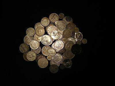 Group of Silver World Coins 58 Pieces Total #2