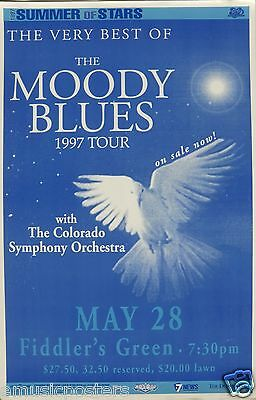 "Moody Blues 1997 ""very Best Tour Of The Moody Blues"" Denver Concert Poster"