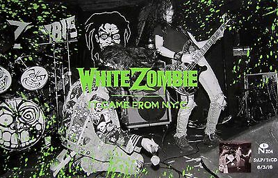 """WHITE ZOMBIE """"IT CAME FROM N.Y.C."""" U.S. PROMO POSTER - Heavy/Alt. Metal Music"""