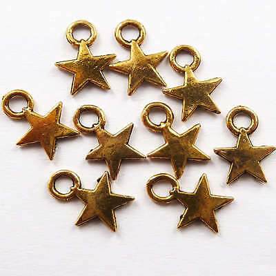 Free Ship 1000pcs gold plated pentagram charms 11mm