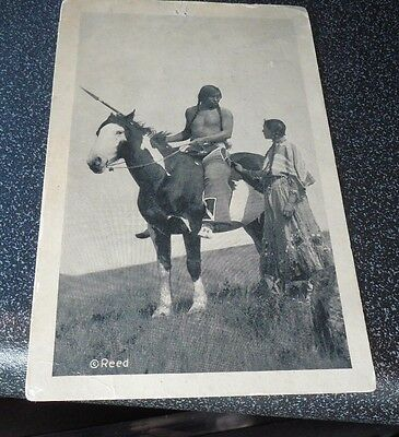 1943 Reed Native American Indian Pictures Postcard