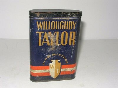 Antique Willoughby Taylor Pipe Tobacco Tin From Wilkes-Barre, Pa