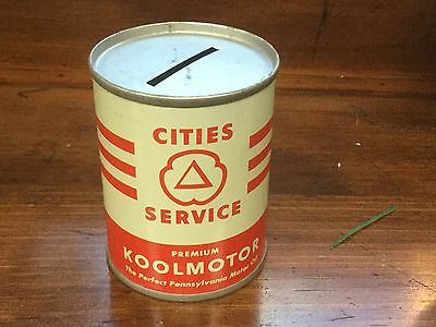 Vintage Motor Oil Can, Cities Service Koolmotor Coin Bank