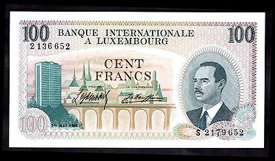 Luxembourg. 100 Francs, S 2179 652, 1-5-1968, GEF or better.