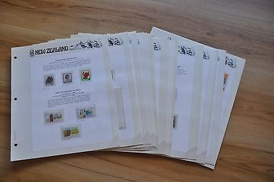 Seven Seas New Zealand stamp pages with some stamps