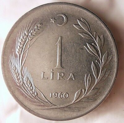 1960 TURKEY LIRA - Excellent Collectible Coin - MIDDLE EAST BIN #1