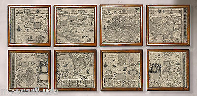 Wall Map of 1604 The World Portfolio by Authentic Models MC818