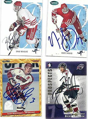 2004 ITG H&P #58 Brent Seabrook Lethbridge Hurricanes Signed Autographed Card
