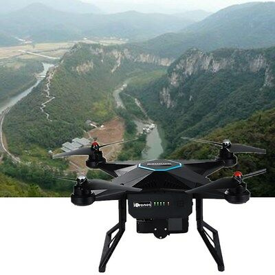RC Drone Newest iDrones 2 Quacopter UAV With 4K Stabilized HD Camera GPS Black
