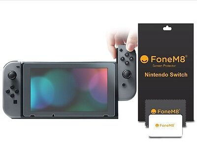 2 Pack Genuine FoneM8 HD Clear Screen Protectors For Nintendo Switch