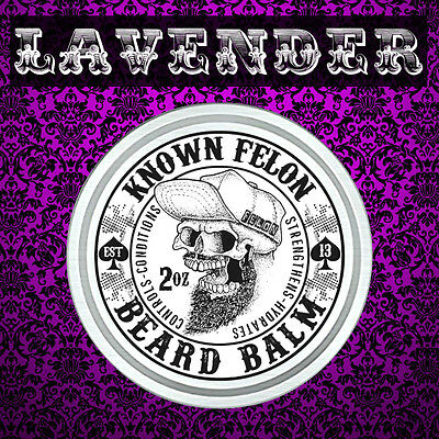 Known Felon 2oz Lavender Beard Balm All Natural