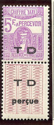 Stamp / Timbre Colonies Francaises Tunisie Taxe Neuf N° 55 *