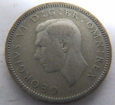 Vintage George VI Silver Sixpence Coin - 1943