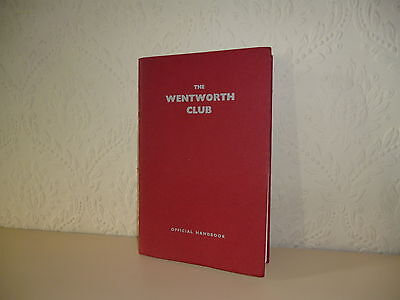 Wentworth Club Handbook Late 1950's Superb condition and golf content