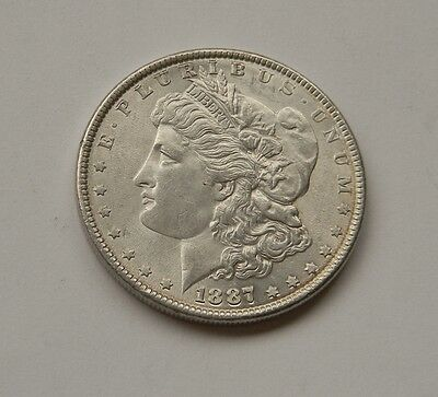 "USA: One Dollar 1887, ""MORGAN DOLLAR"", prägefrisch/unc. !!!"
